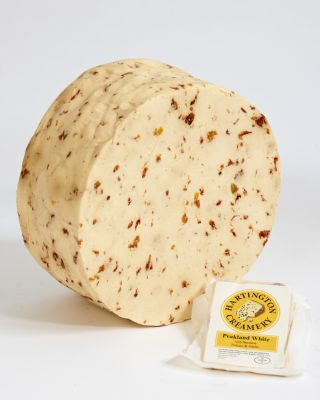 Peakland White crumbly cheese smoked tomato and garlic | Hartington Cheese Shop Cheese