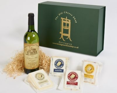 <p>This hamper box comes complete with a beautiful bottle of wine from the Sealwood Vineyard in Deryshire. Vines grown on their own vineyard produce a lovely wine. The cheeses are from the Hartington Creamery in the Parish of Hartington and are all award winning cheeses. The peakland Blue is a trophy winner at Bakewell Show for best blue cheese and the Peakland White has just won silver for best new cheese at the British Cheese Awards. Also included are Peakland White with Smoked Tomato & Garlic and our very moreish Peakland White with Cranberry & Orange.</p>